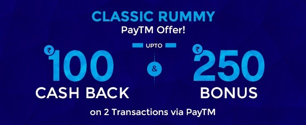 Classic Rummy Paytm offers!