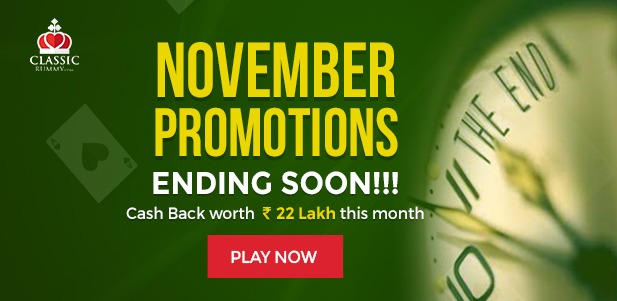 classic rummy november month promotions