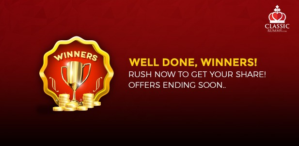 classic rummy offers and winners