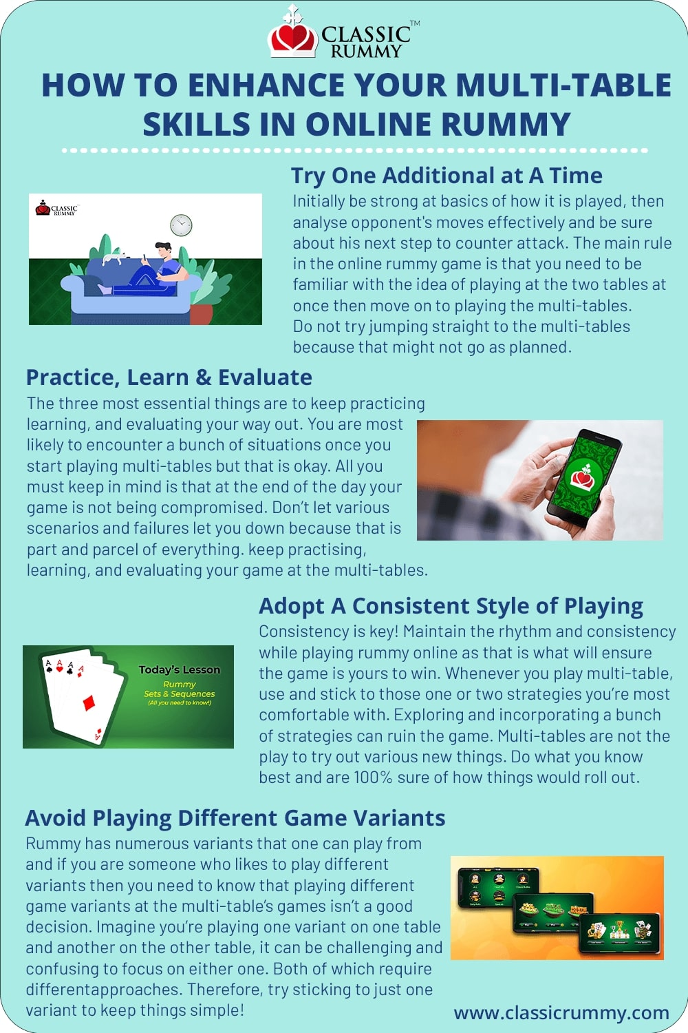 how to enhance your multi table skills in online rummy