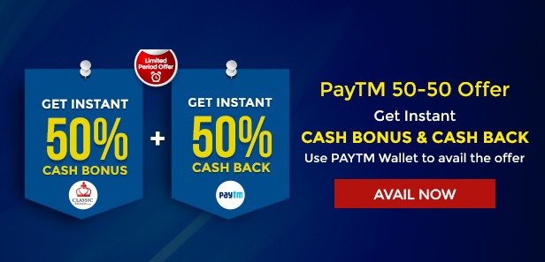 paytm classic rummy offer july